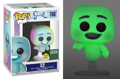 Showing the Funk Pop! figure 745 Soul 22 Glow in the Dark from Barnes and Noble