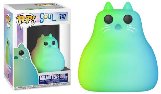 Showing the Funko Pop! figure 747 Mr. Mittens in the Soul World