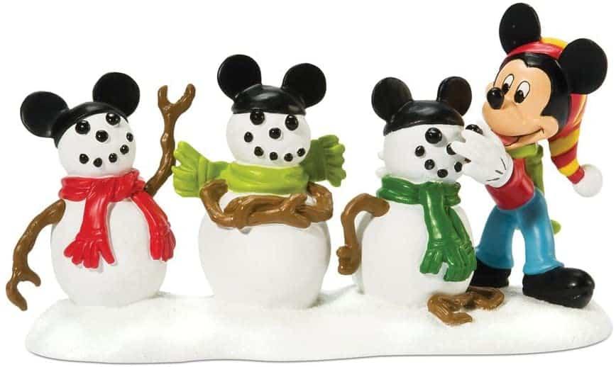 Mickey Christmas Village Snowmen